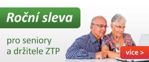 Sleva pro seniory a držitele průkazu ZTP