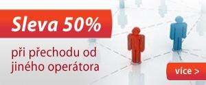 50% Sleva při přechodu od jiného operátora